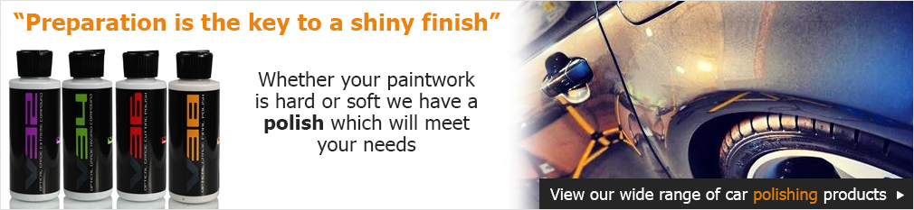 """Preparation is the key to a shiny finish"" Whether your paintwork is hard or soft we have a polish which will meet your needs"