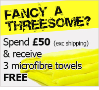 Fancy a threesome - Spend £50 (exc shipping) & receive a blue fluffy towel FREE