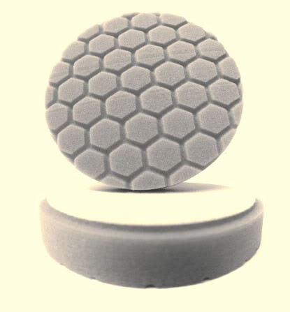 "4.0"" Hex Logic Pad  White Medium Light Polishing Pad"