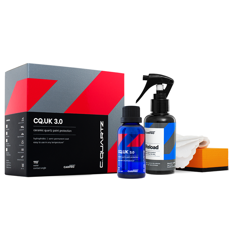 CarPro CQuartz UK Edition 3.0 Ceramic Paint Protection 50ml Kit including 100ml Reload