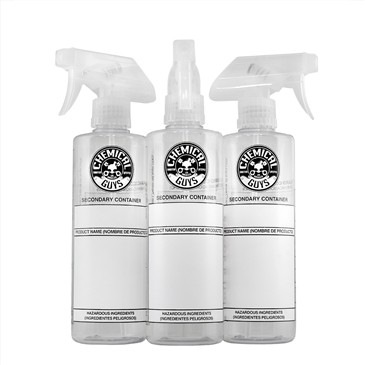 Chemical Guys Dilution Bottle With Professional Standard Sprayer, 500ML (3 Pack)