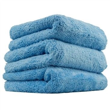 "Chemical Guys Happy Ending Edgeless Microfibre Towel 3 Pack BLUE (16x16"")"