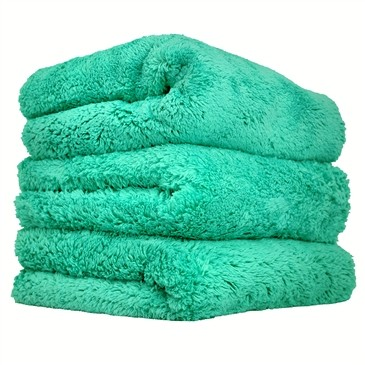 "Chemical Guys Happy Ending Edgeless Microfibre Towel 3 Pack GREEN (16x16"")"