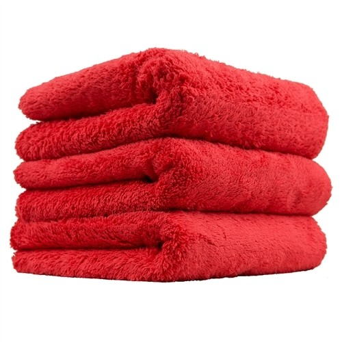 "Chemical Guys Happy Ending Edgeless Microfibre Towel 3 Pack RED (16x16"")"