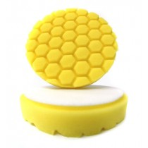 "5.5"" Hex-Logic Pad Yellow Cutting/Compounding Pad"