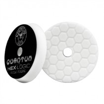 "5.5"" Hex Logic Quantum Light-Medium Polishing Pad White"