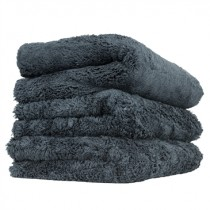 "Chemical Guys Happy Ending Edgeless Microfibre Towel 3 Pack BLACK (16x16"")"
