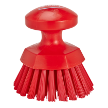 Vikan Round Hard Bristle Hand Scrub 110mm Brush