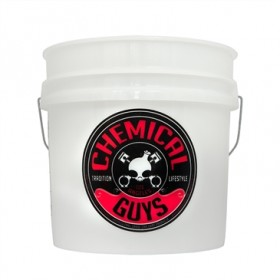 Chemical Guys 20 Litre Heavy Duty Detailing Bucket with Cyclone Dirt Trap Insert & CG Logo Lid