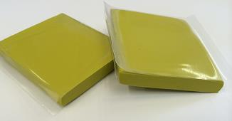 Yellow fine poly clay bars.