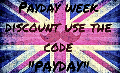"Payday Week Discount use the code ""PAYDAY"""